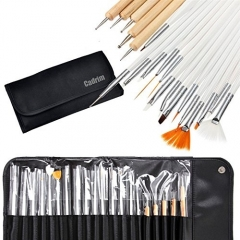 Cadrim Nail Art Design Painting Drawing Brush Punk Tierung Detailing Tool Set  (for Natural, wrong, UV and Gel Nails)